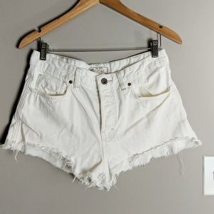 Free People Shorts - Free People White Denim Cut Off Short sz 29